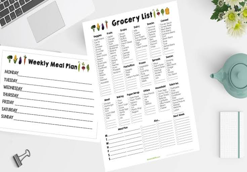 GROCERY LIST PRINTABLES
